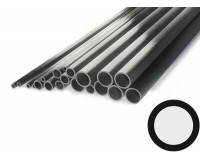 """Carbon Tube 7mm x 5mm x 1000mm Pultrusion (.275"""" x .196"""" x 39"""")"""