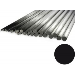 """Carbon Rod 2mm x 1000mm Pultrusion (.078"""" x 39"""")"""
