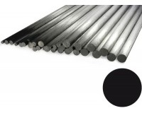 "Carbon Rod 2.5mm x 1000mm Pultrusion (.098"" x 39"")"