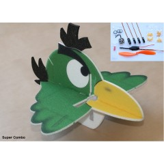 Angry Bird Toucan 580mm green SUPER COMBO (KIT)