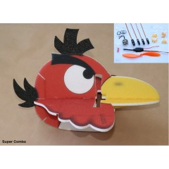 Angry Bird Toucan 580mm red SUPER COMBO (KIT)