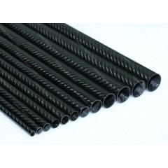 Carbon Tube 22mm x 20mm x 1000mm 3K Twill