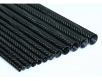 Carbon Tube 7mm x 6mm x 1000mm 3K Twill