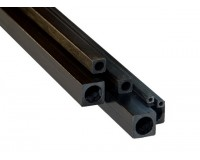 Square Carbon Tube 2mm x d1mm x 1000mm Pultrusion