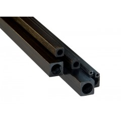 Square Carbon Tube 5mm x d4mm x 1000mm Pultrusion