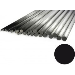 """Carbon Rod 12mm x 1000mm Pultrusion (.472"""" x 39"""")"""