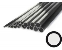 """Carbon Tube 10mm x 9mm x 1000mm Pultrusion (.394"""" x .354"""" x 39"""")"""
