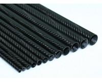 Carbon Tube 9mm x 7mm x 1000mm 3K Twill